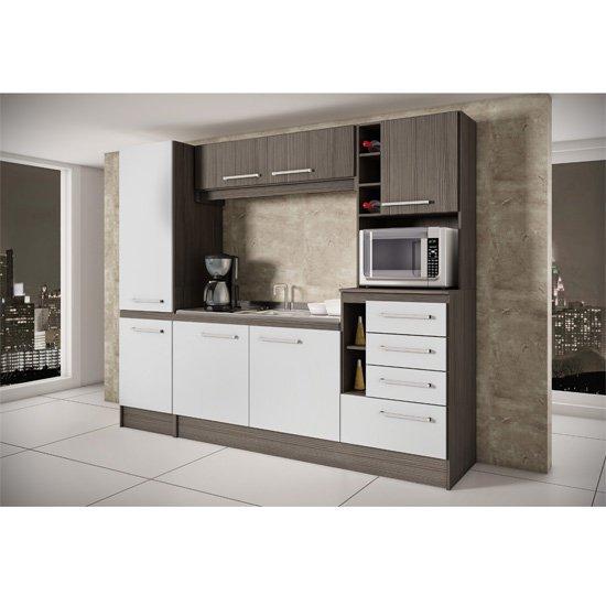 Cozinha Compacta Decibal Lara, 7 Portas, 4 Gavetas  CH 855  Colombo # Cozinha Compacta Civardi