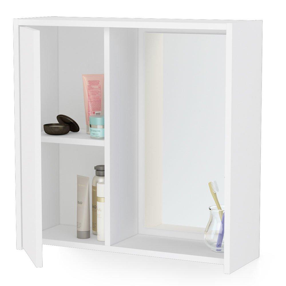 Armário Aéreo para Banheiro Politorno Itália com Espelho, 1 Porta  3489 -> Armario De Banheiro Aereo