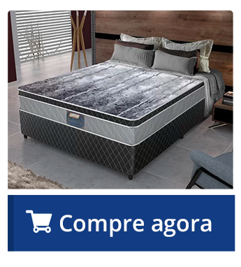 Conjunto Cama Box Casal de Molas Pocket Gazin Invictus IN - 138x188