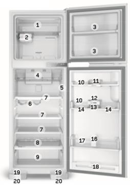 Refrigerador Brastemp BRM44HB Detalhamento