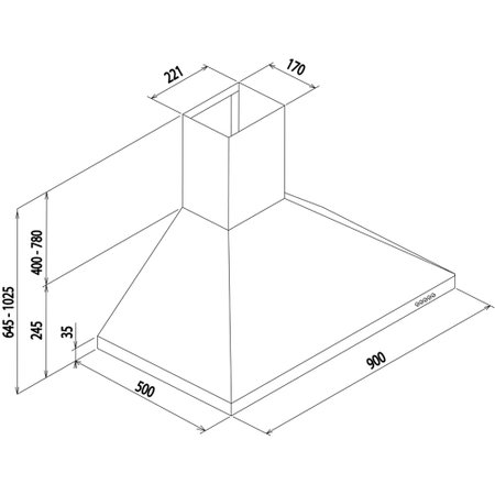 Coifa de Parede Prisma 90cm -Tramontina