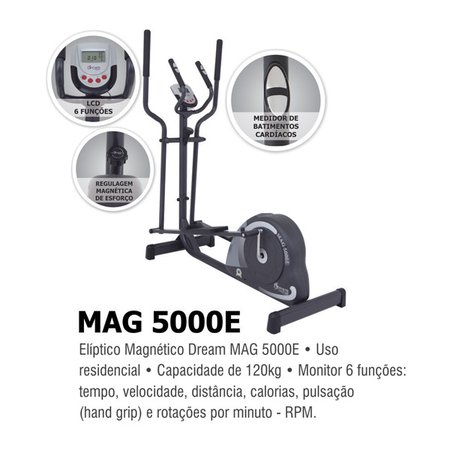 Elíptico Magnético Dream - MAG5000E