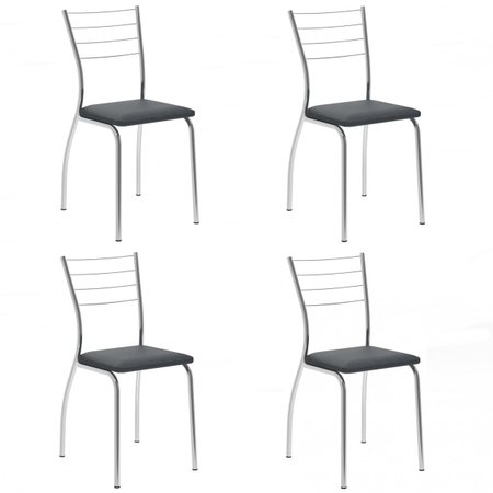 Cadeira Cromada 1700 04 Unidades - Carraro