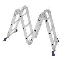 Escada de Alumínio Mor Multifuncional 4x3, 12 Degraus, Capacidade para 150Kg