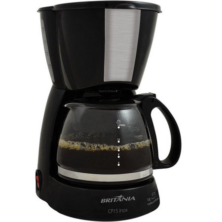Cafeteira Britânia, Jarra de Vidro, Sistema Corta Pingos - CP15