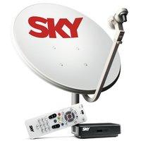 Receptor Sky Pré Pago Flex SD + Antena 60 cm