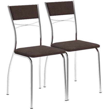 Kit com 2 Cadeiras Carraro em Aço e Estofamento - 1701