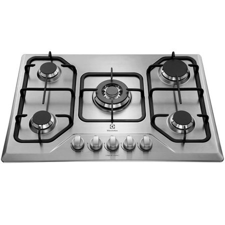 Cooktop 5 Bocas a Gás Electrolux, Inox - GT75X