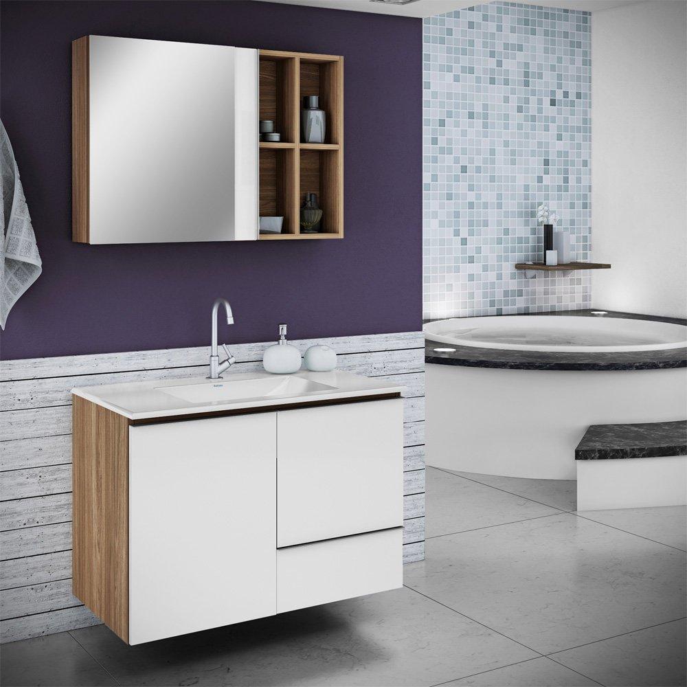 Balcão para Banheiro com Cuba Itatiaia Maris  Colombo -> Cuba Para Banheiro Com Balcao