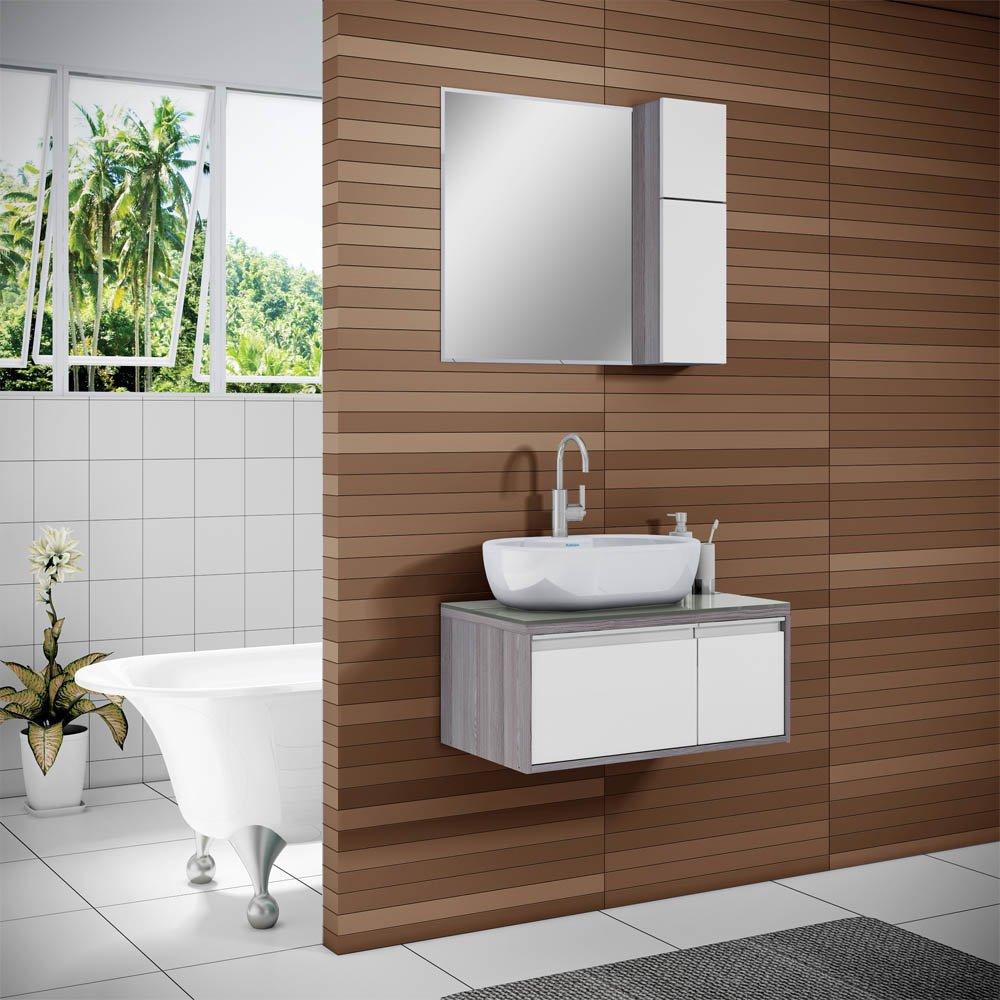 Balcão para Banheiro com Cuba Itatiaia Pérola  Colombo -> Cuba Para Banheiro Com Balcao