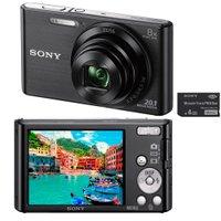 Câmera Digital Sony 20.1 MP Edição de Fotos, Panorâmica e Cartão 4GB DSC-W830/B