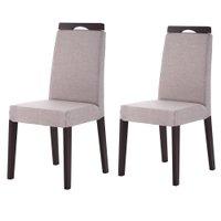 Cadeira de Jantar c/ Detalhe Madeira 2 Unidades - King Móveis