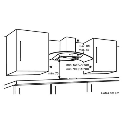 Coifa de Parede Consul Vidro Inox 60cm - CAP60AR
