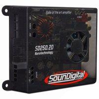 Módulo Amplificador SounDigital SD250.2d Mini 2 canais 125W RMS 2ohms  + Cabo RCA de 5m