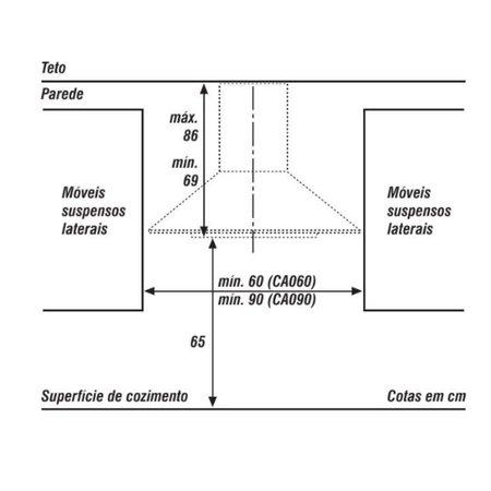 Coifa de Parede 60cm Consul Facilite Piramidal Aço Inox