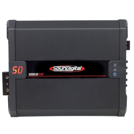 Módulo Amplificador SounDigital SD5000.1D EVO 2.1 Black 1 Canal 6530 Watts RMS 2Ohm