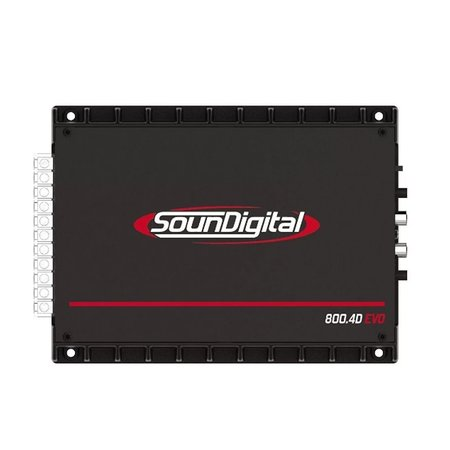 Módulo Amplificador Digital SounDigital SD800.4D EVO 2 Black 1044 Watts RMS 4 Ohms