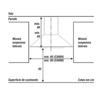 Coifa Consul Parede Facilite Piramidal Aço Inox 90 cm