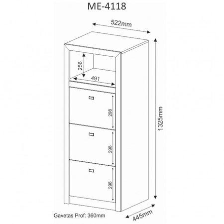 Armário Arquivo ME4118 - Tecno Mobili