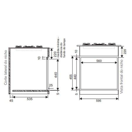 Forno Elétrico de Embutir Fischer infinity 50 Litros Vidro Branco