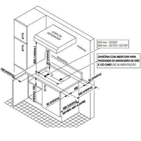 Cooktop Electrolux 5Q Vidro Preto Tripla Chama - GC75V