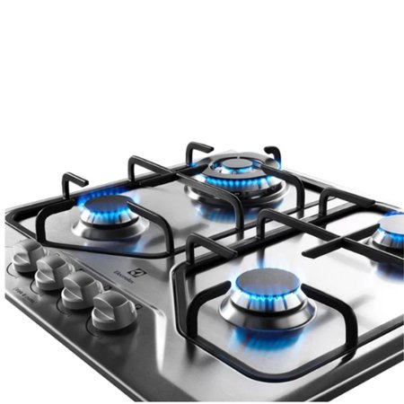 Cooktop Electrolux Inox Tripla Chama Bivolt GT60X