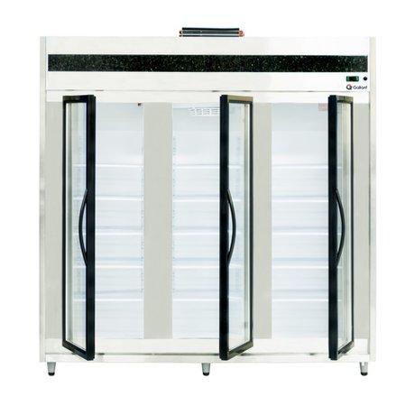 Auto Serviço Congelados Gallant Premium 2000mm Vidro Duplo 3P Mármore/Inox Ar Forçado