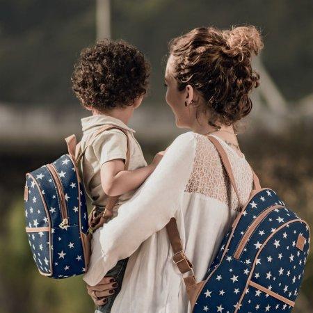 Mochila Hug Versatile com Alças Reguláveis Baby, Marinho