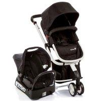 Carrinho de Bebê Safety 1ts Mobi Travel System 15kg, Com Base, Preto e Branco