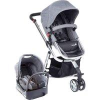 Carrinho de Bebê Safety 1ts Mobi Travel System 15kg, Com Base - Grey Denim Silver