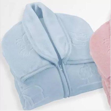 Cobertor Jolitex Ternille Baby Sac Touch Texture, Azul
