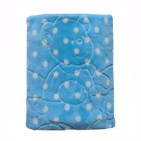Cobertor em Relevo Jolitex, com Capuz, Azul