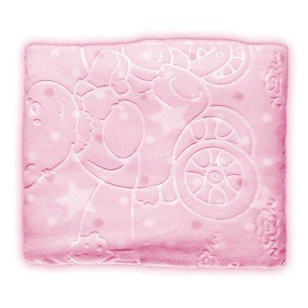 Cobertor Infantil Jolitex Super Soft 80 x 110cm, Rosa