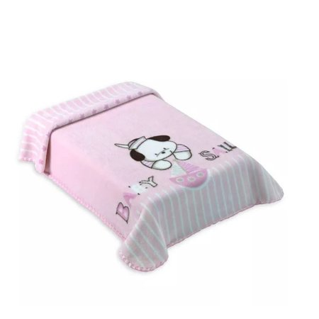 Cobertor Para Berço Colibri Lepetit, Rosa