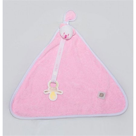 Naninha Blanket Atoalhado Ursinha Rosa - Zip