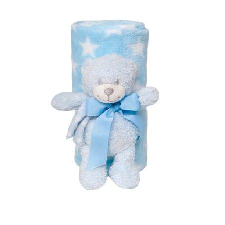 Kit Gift Manta + Pelúcia Ursinho Azul - Buba
