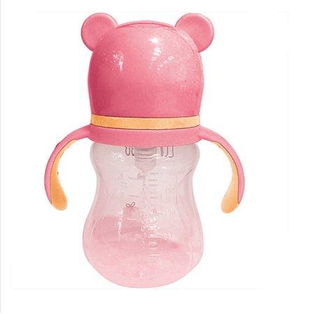Copo Com Alça Buba Rosa Urso 180 Ml - Buba