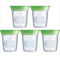 Conjunto De Potes Com Tampa Verde Storage Solution - MAM