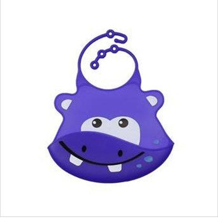 Babador Silicone Cata Migalhas Hipopótamo - Multikids
