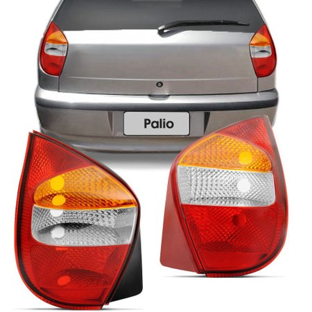 Lanterna Traseira Tricolor Fiat Palio 2001 a 2003 Lado Direito