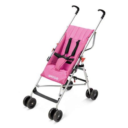 Carrinho de Bebê Guarda-Chuva Way Weego, Rosa - BB508