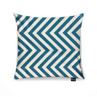 Capa para Almofada Tecido Estampado Zig Zag Azul Tiffany D90 - D'rossi