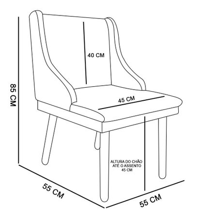 Cadeira Poltrona Decorativa Liz Estampado Geométrico Estrela - D'Rossi