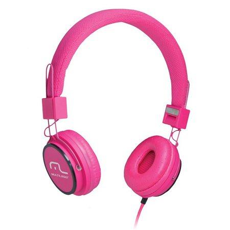 Fone de ouvido Multilaser Headphone som Wi-Fi Power Rosa - PH088