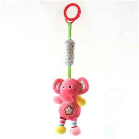 Chocalho Elefante Rosa - Love