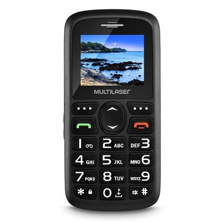 Celular Vita Dual Chip, Tela 1,8,  Usb Bluetooth, Preto Multilaser - P9048