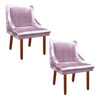 Kit 02 Cadeira Poltrona Decorativa Liz Acetinado - D'Rossi