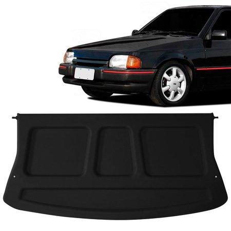 Tampão Traseiro Bagagito Porta Mala Ford Escort Fase 1 1987 a 1996 Plástico Preto