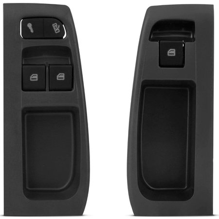 Kit Vidro Elétrico Dianteiro Sensorizado Fox 4 Portas 2003 a 2009 Moldura Cinza