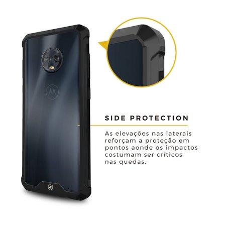 Capa Ultra Slim Air preta para Motorola Moto G6 Plus - Gorila Shield